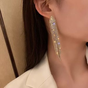 18K gold plated shiny statement earrings